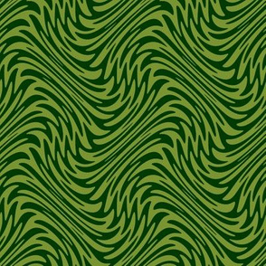 feather swirls in forest and moss
