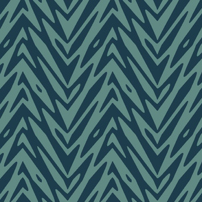 feather mountains in slate and navy