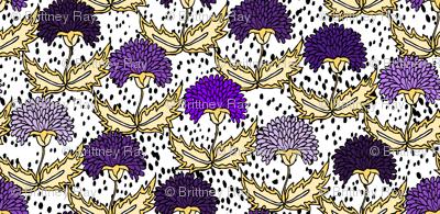 Purple & Gold Floral