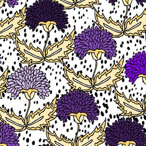 Purple & Gold Floral