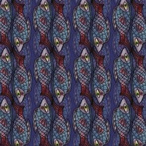 Artwork - Menagerie Fish - Blue and Purple