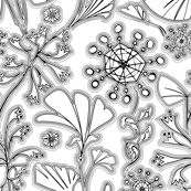 Flowers-b&w - color them in