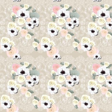 Antique Anemones fabric by unicornusrex on Spoonflower - custom fabric
