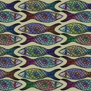 Artwork - Menagerie - Fish Crop Multicolor