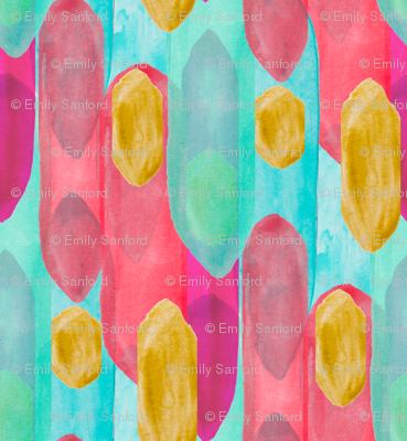 Watercolor Spire in Gold Multi