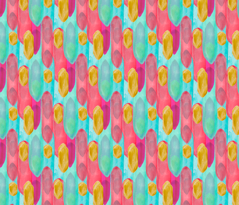 Watercolor Spire in Gold Multi fabric by emilysanford on Spoonflower - custom fabric