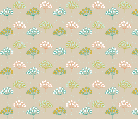 Folklore Floral blue version fabric by mrshervi on Spoonflower - custom fabric