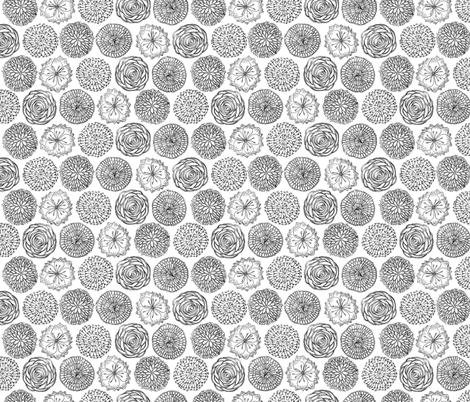 My lovely garden circles fabric by ms_majabird on Spoonflower - custom fabric