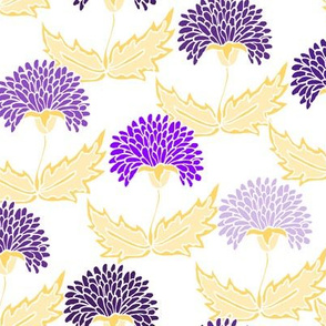 Gold & Purple Floral