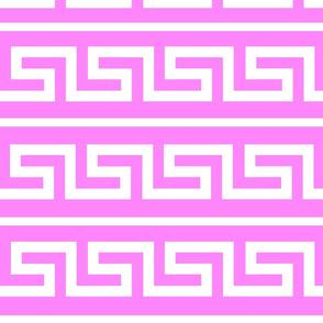 Hot pink greek key