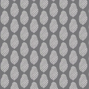 scattered pine cones grey on grey