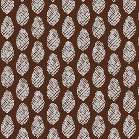 scattered pine cones in the mud fabric by ali*b on Spoonflower - custom fabric