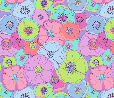 OPHELIE fabric by me_amelia on Spoonflower - custom fabric