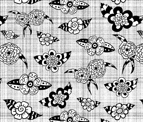 Coloring flowers  fabric by lucybaribeau on Spoonflower - custom fabric
