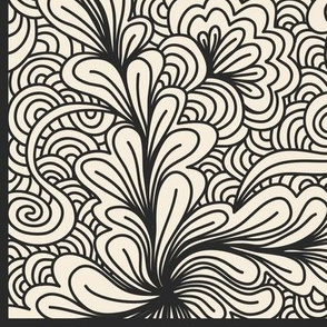 Floral Coloring Book Zentangle