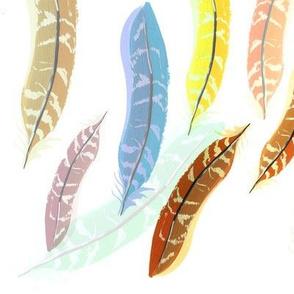 Rainbow Pheasant Feathers