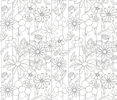 wallflowers fabric by mbsterling on Spoonflower - custom fabric