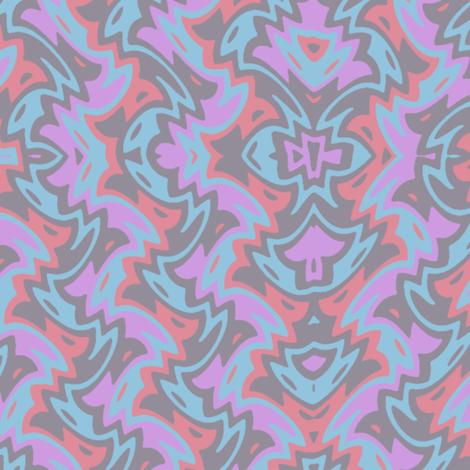 art deco chevron in grey and lavender fabric by weavingmajor on Spoonflower - custom fabric