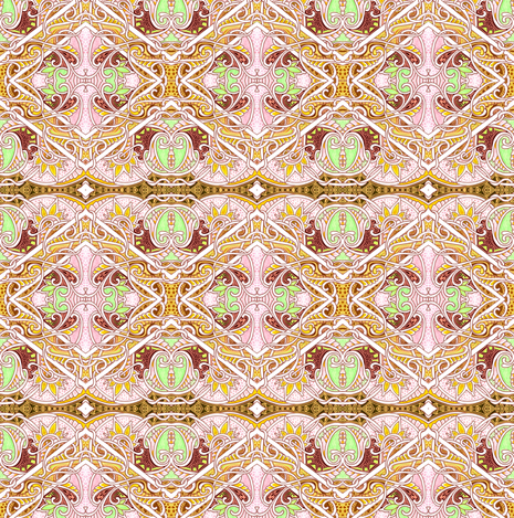 Twisted Scenes in the Diamond Mine fabric by edsel2084 on Spoonflower - custom fabric