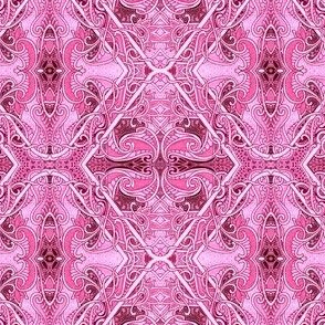 Hot Pink Pepto Paisley Tangle