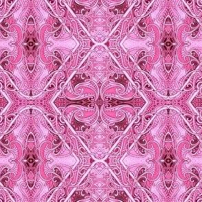 Hot Pink Pepto Paisley Tangle