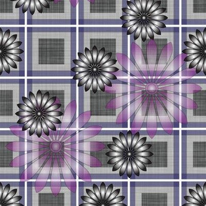 Flower_Purple_Plaid
