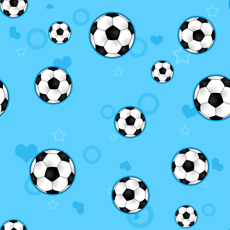 Soccer Ball Pattern Blue fabric by jannasalak on Spoonflower - custom fabric