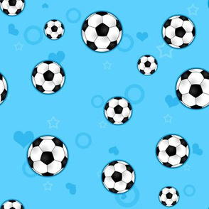 Soccer Ball Pattern Blue