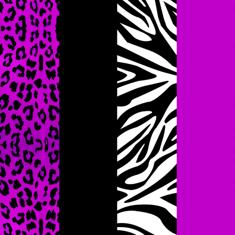 Purple Animal Print - Leopard and Zebra fabric by jannasalak on Spoonflower - custom fabric