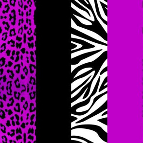 Purple Animal Print - Leopard and Zebra