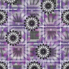 LG_Purple_Flower_Plaid_Linen