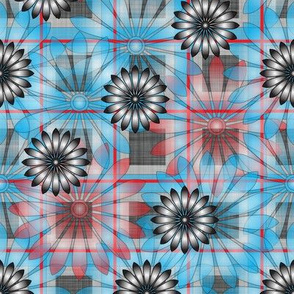 LG_Blue_Flower_Plaid_Linen