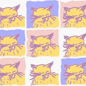 Kitten Daydreams in Violet