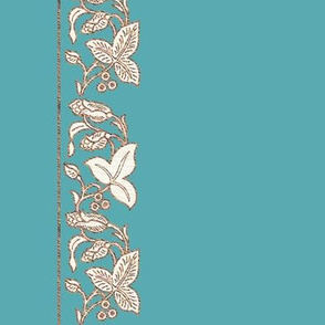 NATURAL-flwr-border-IMAGESIZE2X-150-6IN-CROP-2014-4apr16-COPPER-CREAM-onBLTURQ184-YES-rotate