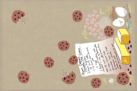 Mom's Chocolate Chip Cookies Tea Towel fabric by vinpauld on Spoonflower - custom fabric