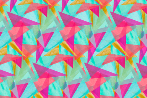 Cinta Watercolor Kaleidoscope fabric by emilysanford on Spoonflower - custom fabric