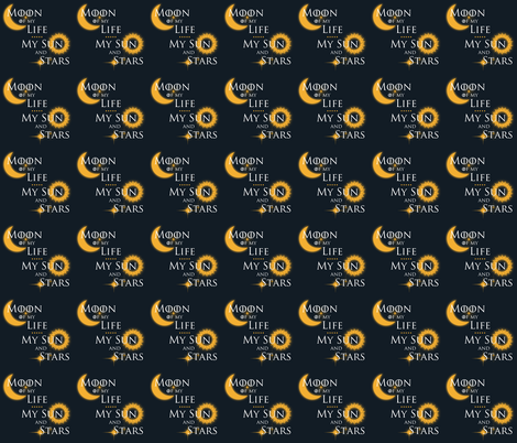 Moon of My Life My Sun and Stars fabric by fishbiscuit on Spoonflower - custom fabric