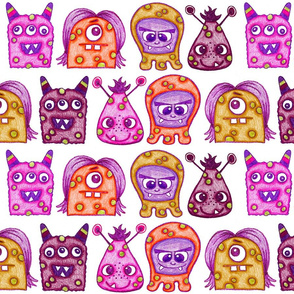 Warted Crayon Monsters
