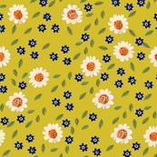 Blossom, mustard yellow