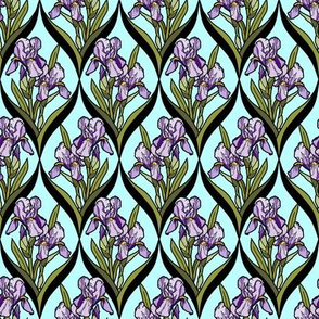 framed_iris_purple_lt_aqua_D_black_leaves
