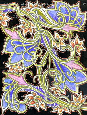 Art Nouveau Gardening (with copper outline)