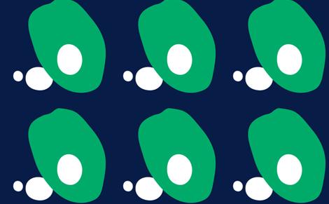 Egg Benedict Green fabric by pegeo on Spoonflower - custom fabric