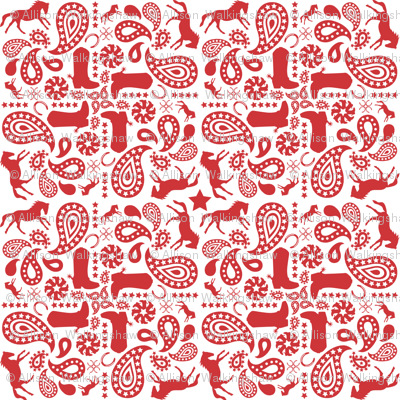 Western Paisley Red