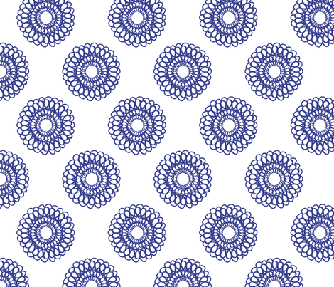Floral Spiral fabric by jenflorentine on Spoonflower - custom fabric