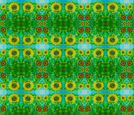 sunflowrs-ed fabric by cherb on Spoonflower - custom fabric