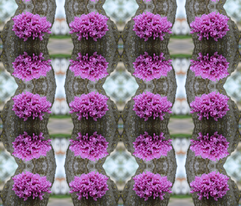 purple flowers on bark fabric by gates_and_gables on Spoonflower - custom fabric