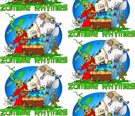 ZOMBIE RHYMES fabric by skree on Spoonflower - custom fabric