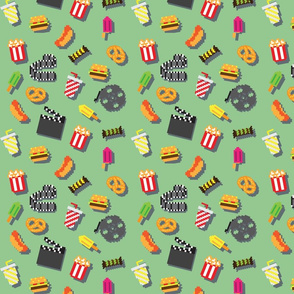 Retro pixel movie pattern