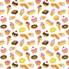 Pastry cake vector