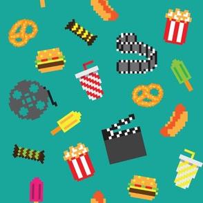 Retro pixel movie pattern